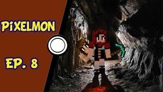 Minecraft Pixelmon - Explorando a caverna em busca dos fósseis - Ep. 8
