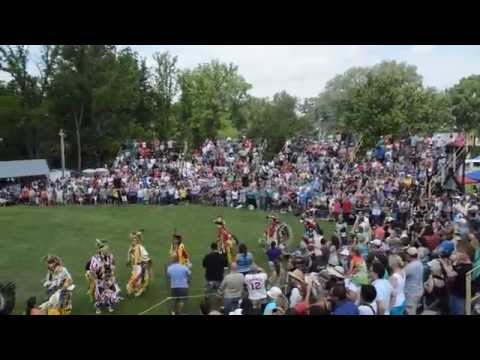 Grand River Champion of Champions Pow wow Grand Entry of Dancers