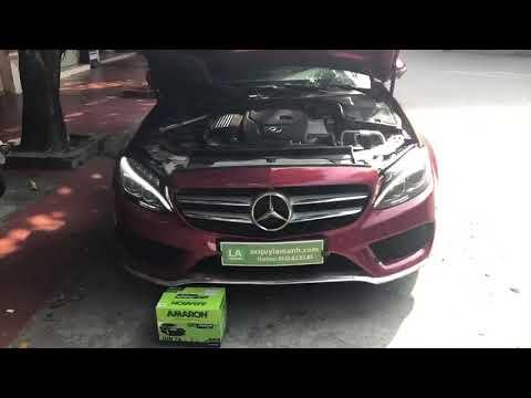 Hướng dẫn thay bình ắc quy Mercedes C300. Cứu hộ ắc quy Mercedes tại nhà