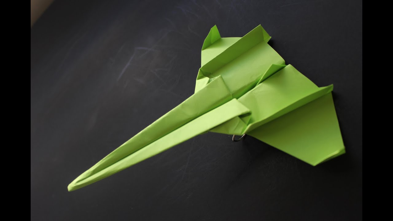 How to make a cool paper plane origami: instruction| Super Secret ...