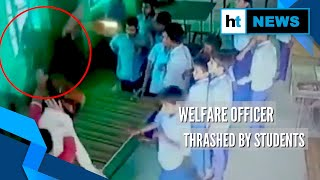 Child welfare officer thrashed by students in Raebareli, video goes viral