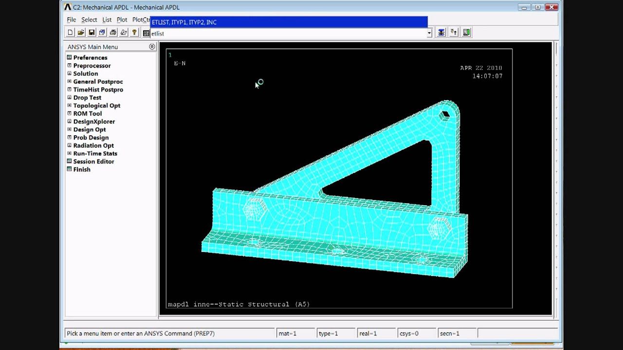 Ansys 12 1 Tutorial Mechanical Apdl Inside Workbench