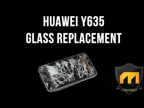 Huawei y635 Touch screen / only glass replacement (SPEED VIDEO)