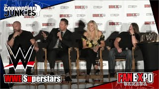 WWE Superstars Triple H, The Miz, Charlotte Flair and A.J. Styles t...