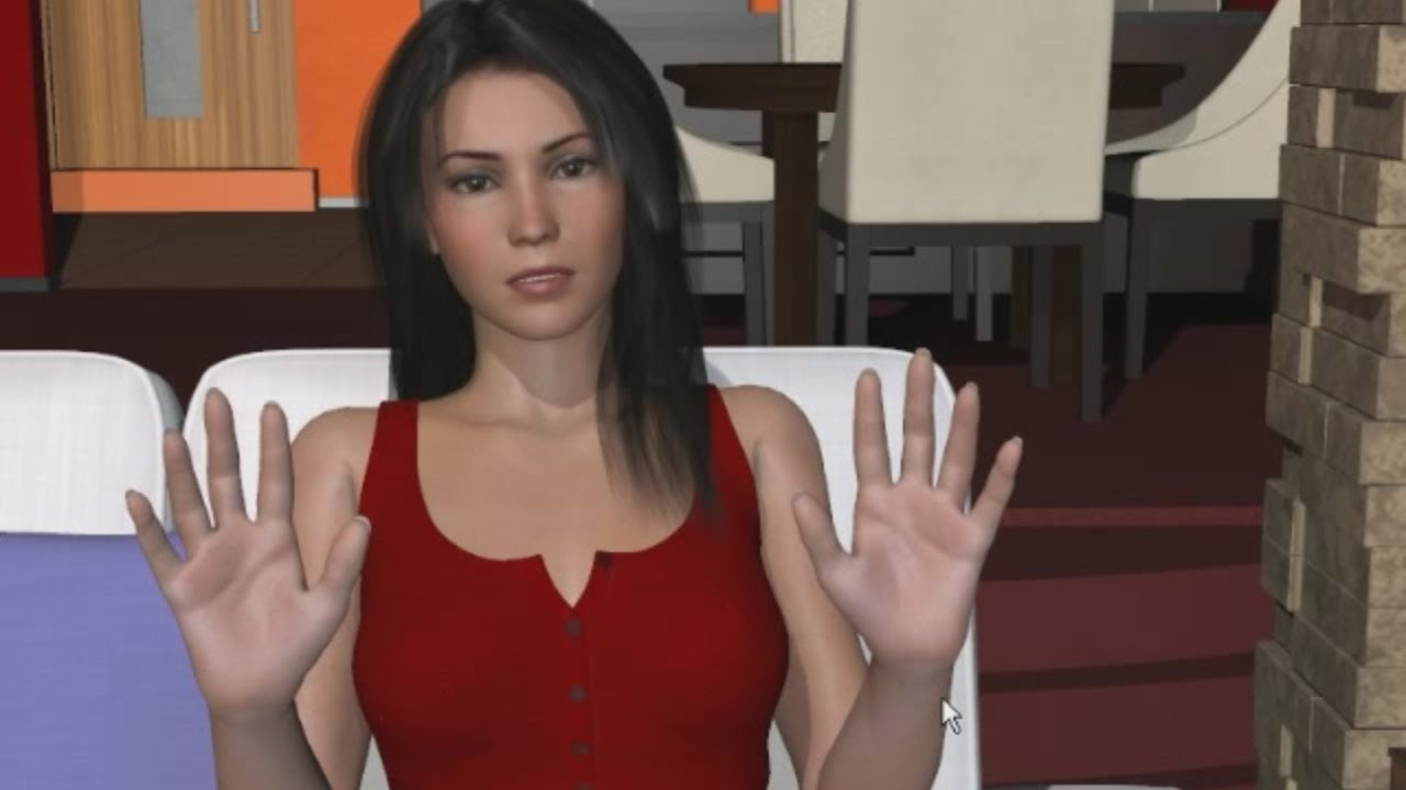 A virtual date with young girls with hairy pussies in pov 8