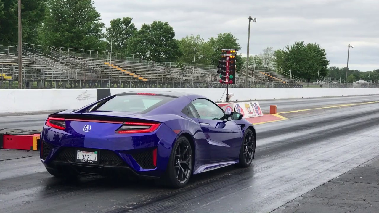2017 Acura Nsx 1 4 Mile Launch Control Youtube