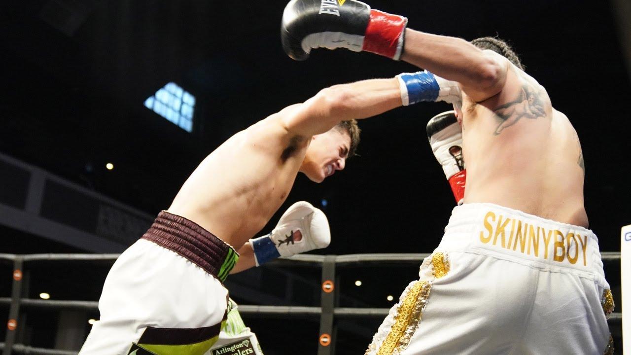 Vito Mielnicki Jr. displays KO power against Nóe López   HIGHLIGHTS