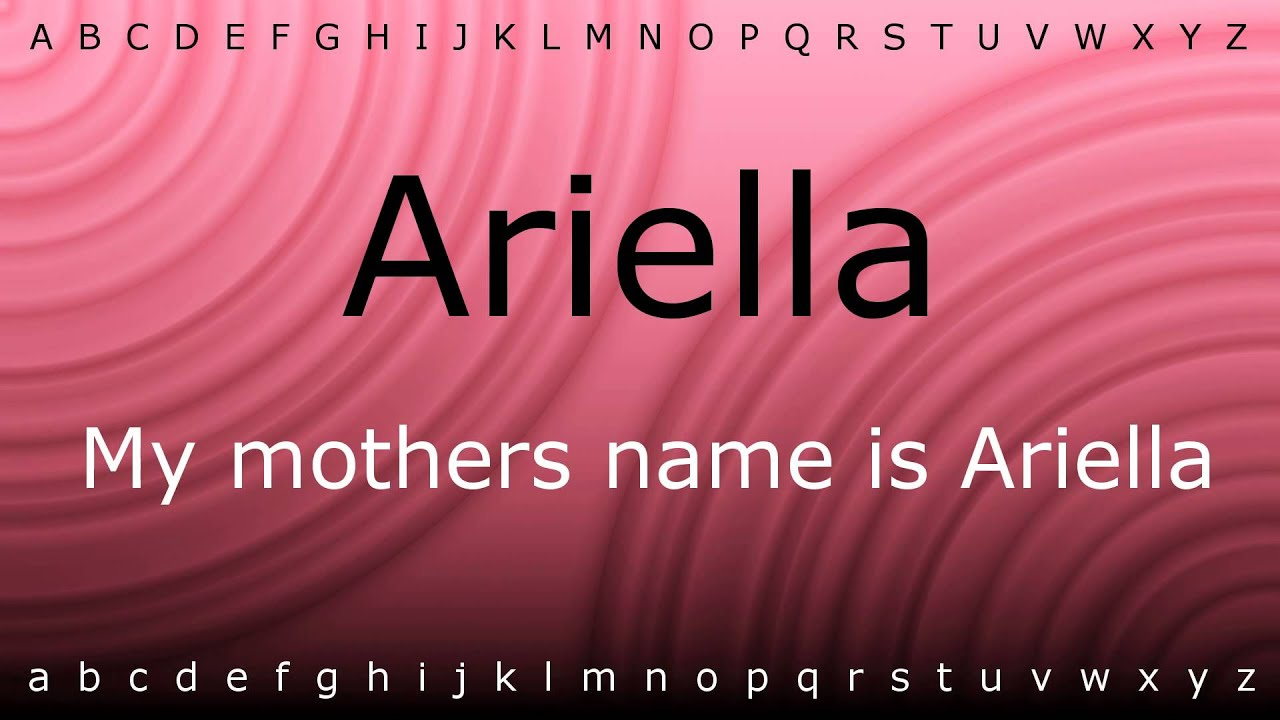 Download Here I will teach you how to pronounce 'Ariella' with Zira.mp4