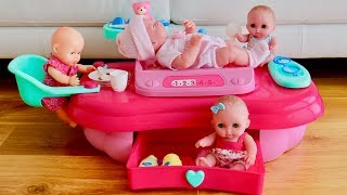 Baby Care 3 in 1 Baby Dolls Nursery Center Unboxing Set Up Pretend Play with Baby Annabell Baby Born