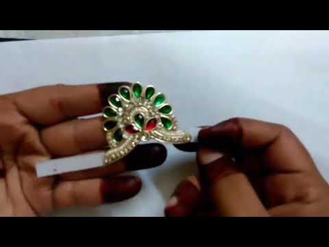 How to make adjustable mukut for kahna ji