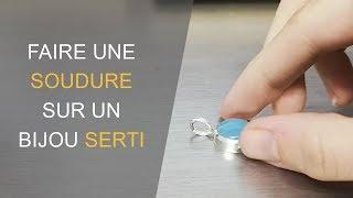 Comment faire une soudure sur un bijou serti d'une pierre ?