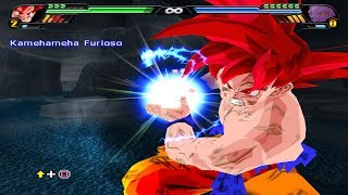 Goku SSJ Dios Remake Final XV2  VS Moro and Bills - Dragon Ball Z Tenkaichi Deluxe 4
