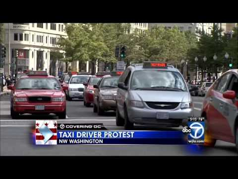 D.C. cab drivers ticketed during Uber protest