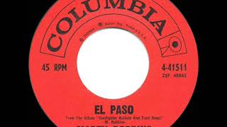 1960 HITS ARCHIVE: El Paso - Marty Robbins (a #1 record--full-length single version)