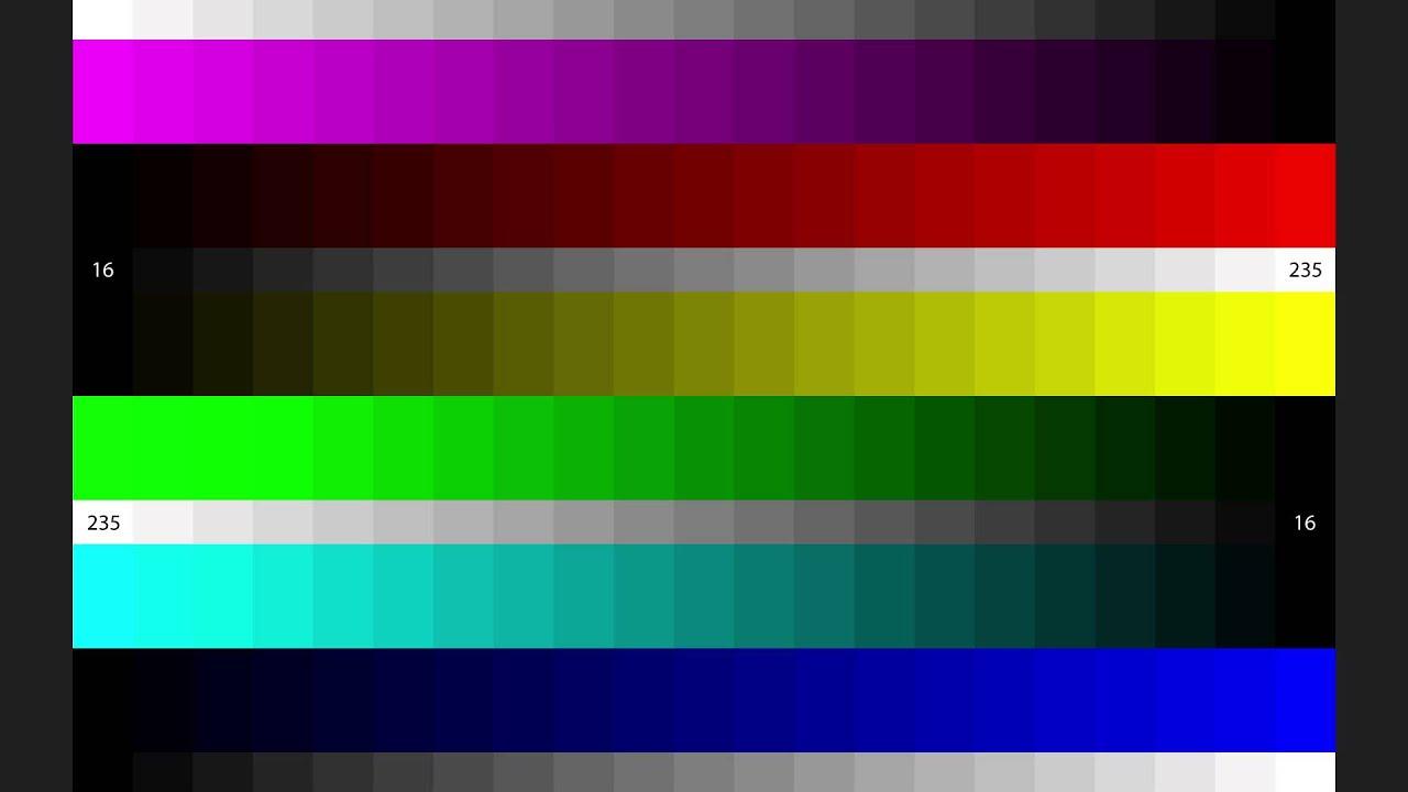 AVS HD 709 Color Steps YouTube