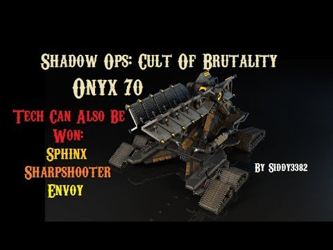 War Commander - Shadow Ops: Cult Of Brutality, Onyx (70) The Prophet Parts