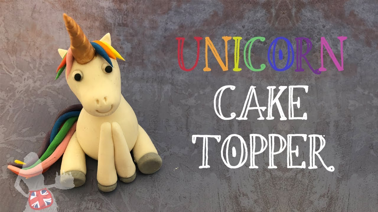 Unicorn Cake Topper with Raised Front Foot
