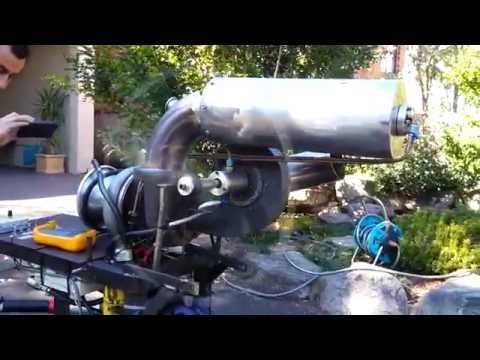 Homemade turbo shaft engine. jet turbine engine