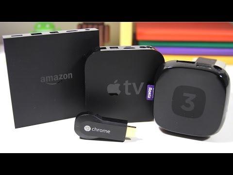 Amazon Fire TV vs Apple TV vs Roku 3 vs Google Chromecast  Full Comparison
