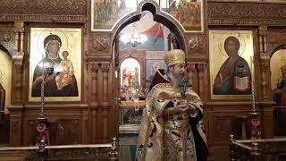 22 летняя годовщина Оптинского Подворья в храме свв. апп. Петра и Павла в Ясеневе.  Литургия