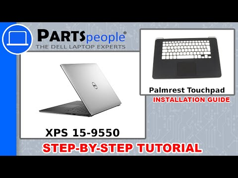 Dell XPS 15-9550 (P56F001) Palmrest Touchpad How-To Video Tutorial
