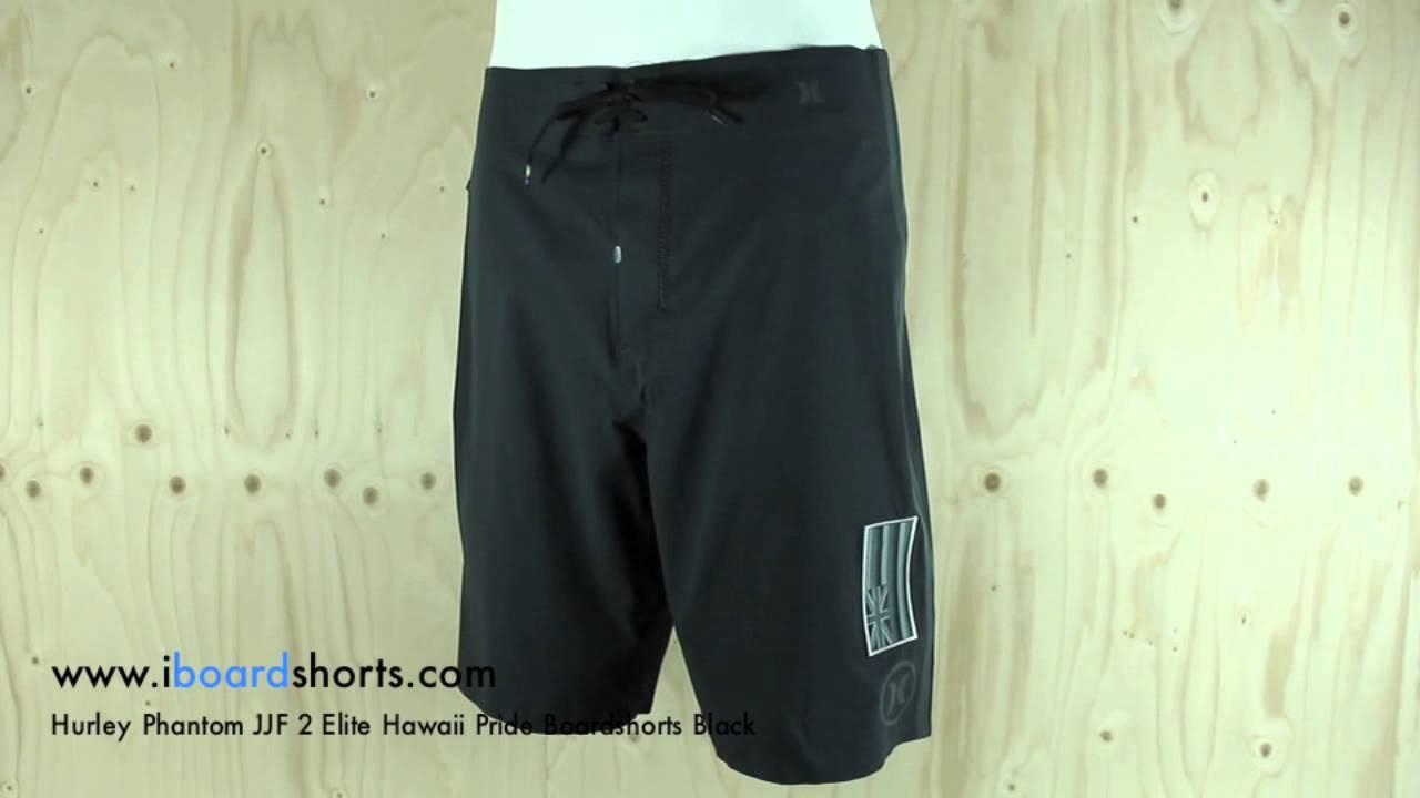 Hurley Phantom JJF 2 Elite Hawaii Pride Boardshorts Black available at  iboardshorts