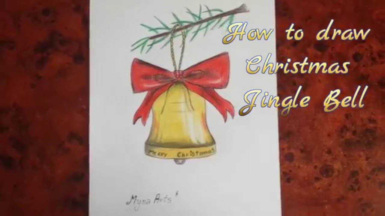 How to draw Christmas Jingle Bell - YouTube