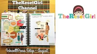 The Reset Girl's Planner Decorating for August - Inkwellpress Planner - WITH close ups