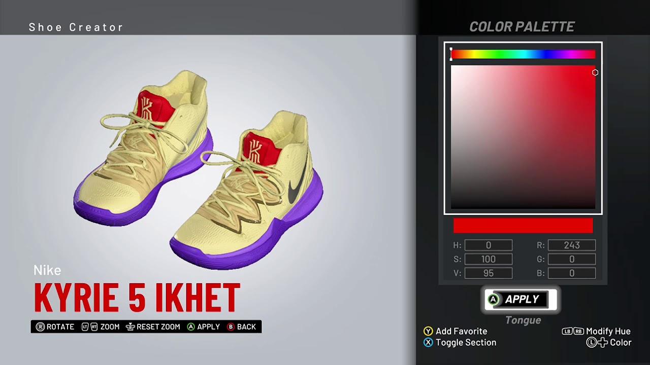 af82ad1e6c4a NBA 2K19 Shoe Creator - Nike Kyrie 5