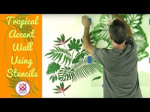 Tropical Wallpaper Hack Using Stencils!