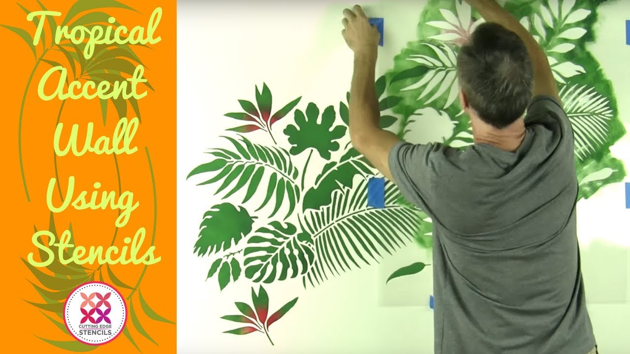 Tropical wallpaper hack using stencils youtube tropical wallpaper hack using stencils amipublicfo Choice Image