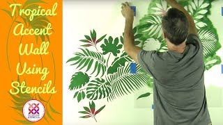 Tropical Wallpaper Hack Using Stencils!