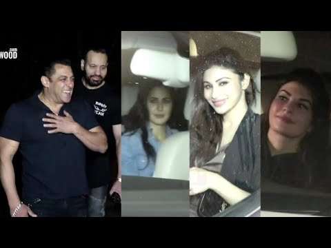 Salman Khan 53rd BIRTHDAY FULL NIGHT PARTY Katrina, Jacqueline, Bobby, Sunil Grover