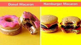 Download lagu 2 Resep Macaron yang Lucu dan praktis Donut Macaron dan Hamburger Macaron MP3