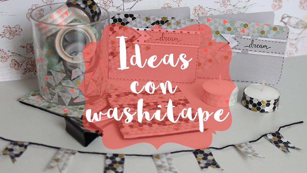 Ideas y manualidades con washi tape youtube - Decoracion con washi tape ...