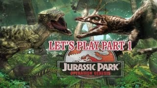 Let's Play Jurassic Park Operation Genesis part 1: Starting our own park!
