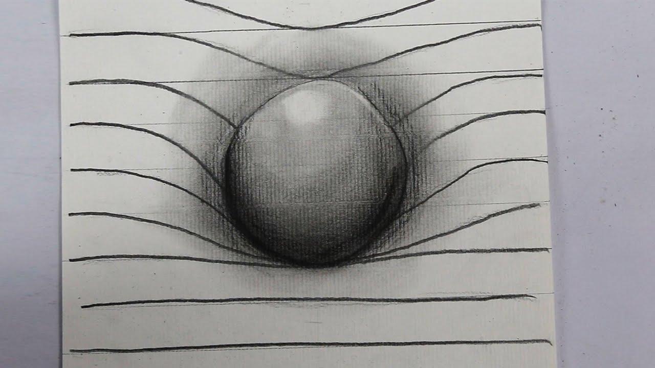 Como Dibujar Un Corazón En 3d Con Lineas: Cómo Dibujar Una Esfera En 3D