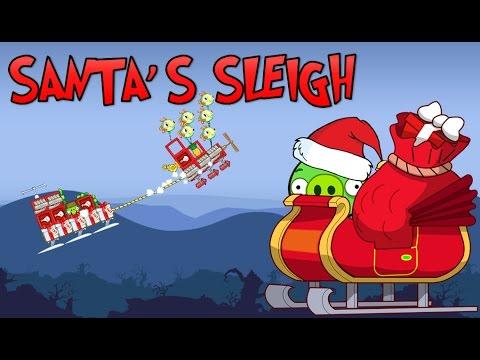 Santa S Sleigh Bad Piggies Inventions Youtube