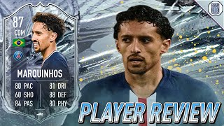 CDM POSITION CHANGE! 87 SBC FREEZE MARQUINHOS PLAYER REVIEW!  - FIFA 21 ULTIMATE TEAM