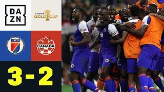 Patzer-Festival bei Sensation - Haiti im Halbfinale: Haiti - Kanada 3:2 | Gold Cup | DAZN Highlights