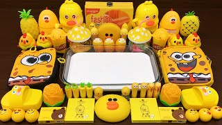 Download Series Yellow DUCK Slime | Mixing Random Things into GLOSSY Slime | Satisfying Slime Video #698 Mp3 and Videos