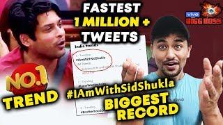 Bigg Boss 13 | Siddharth Shukla CREATES NEW RECORD | Fastest 1 MILLION Tweets | BB 13 Latest Update