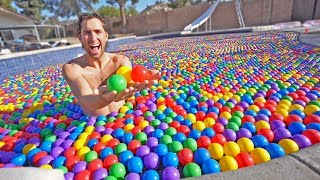 100,000 BALL PIT FILLED POOL!
