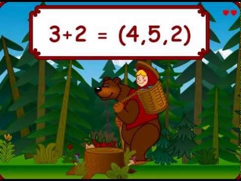 Мультик Развивающая Игра математика с Машей и Медведем