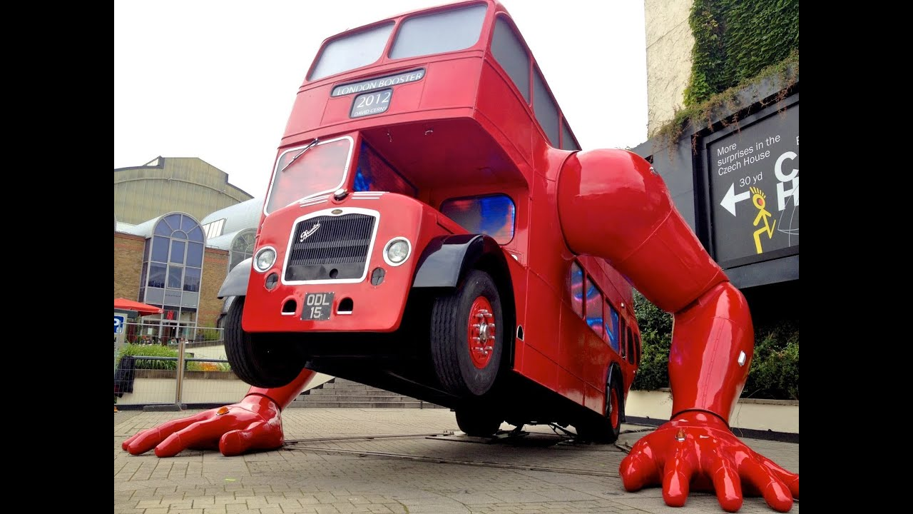 Double Decker Bus Doing Push ups in London by David Cerny Czech ...