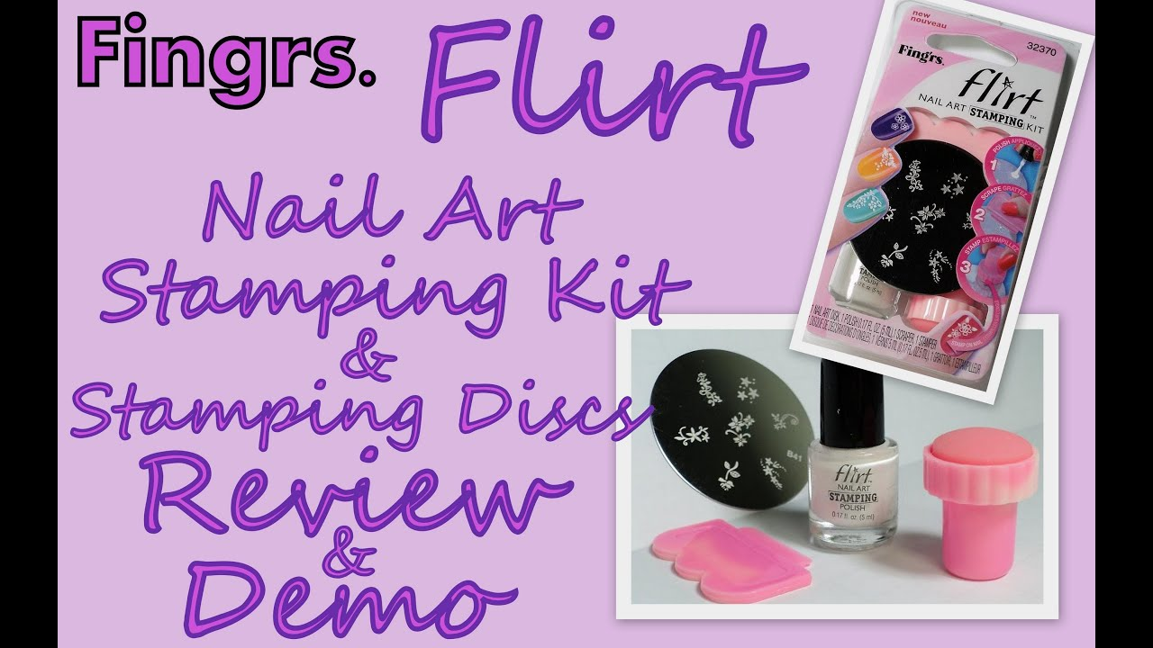 Fingrs Flirt Nail Art Stamping Kitdiscs Reviewdemo Youtube