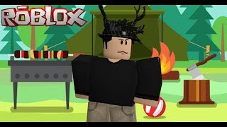 ROBLOX-ESCAPING FROM THE HAUNTED CAMP (ESCAPE FROM SUMMER CAMP)