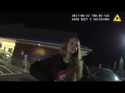 """18 Year Old Resisting Arrest: """"YOU GRABBED MY BOOB"""""""