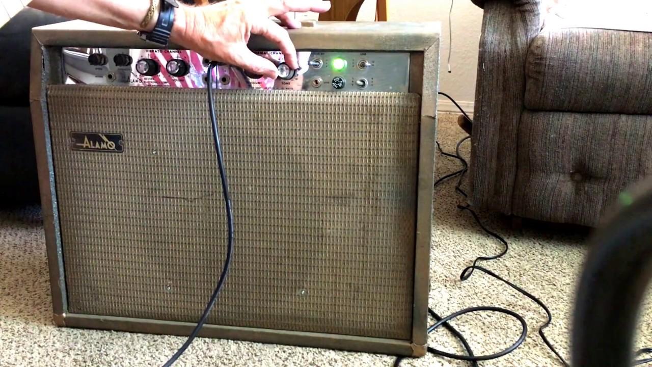 small resolution of 1965 all tube alamo futura guitar amplifier demo