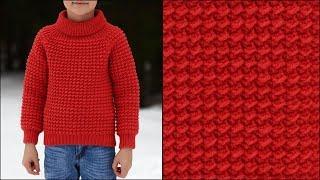 Детский свитер крючком | Свитер крючком реглан сверху